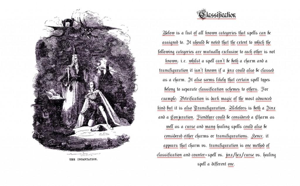 standard book of spell tekst og bilde